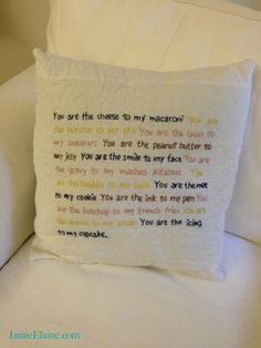 You Are My Everything Pillow by JamieElaine on Etsy, $65.00