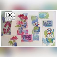 Ludiec: Parfum serie Different Colors, Scrap, Gallery Wall, Stamps, Frame, Cards, Journal, Fragrance, Kraft Paper