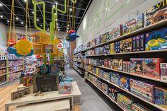 MP Brinquedos - Estúdio Jacarandá Shop Lego, Scenery Background, Guilty Gear, Industrial Loft, Stationery, Toy, Interior Design, Shop Ideas, Shops