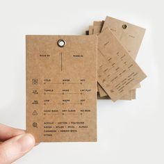 Graphisches Design, Label Design, Hangtag Design, Price Tag Design, Swing Tags, Clothing Labels, Logo Stamp, Name Cards, Packaging Design Inspiration