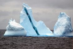Really cool photo set of ice bergs with color stripes.