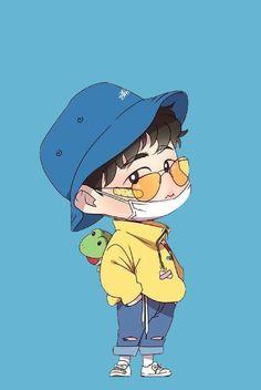 Ikon Wallpaper, Cartoon Wallpaper, Doodle Art Drawing, Art Drawings Sketches, Cartoon Pics, Cute Cartoon, Doddle Art, Ikon Kpop, Kim Hanbin