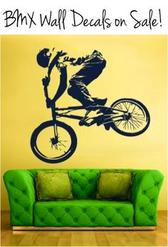 BMX Wall Decals on Sale