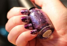 fun #purple #glitter #gradient nails