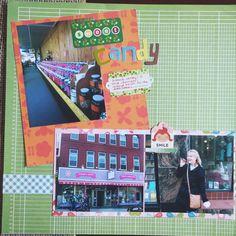 Cook Scrap Craft: Sweet Candy Scrapbook Page