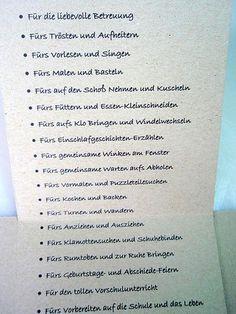 momentan: Abschied vom Kindergarten presents for teachers