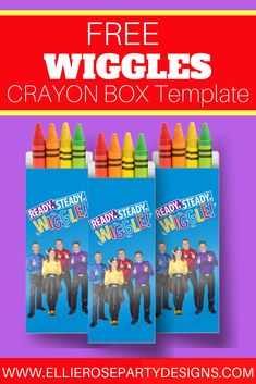 Looking for some fun colourful Wiggles Party Favours to add to your guest goodie bags? Check out my free Wiggles Crayon Boxes. Super easy and quick to make. Birthday Favors, Birthday Diy, 2nd Birthday Parties, Birthday Party Decorations, Birthday Ideas, Party Favors, Birthday Celebrations, Party Bags, Favours