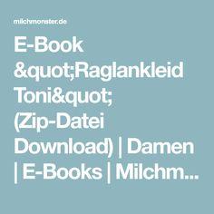 """E-Book """"Raglankleid Toni"""" (Zip-Datei Download)   Damen   E-Books   Milchmonster"""