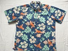 Excited to share the latest addition to my #etsy shop: Phil Edwards Reyn Spooner Hawaiian shirt-large-Aloha shirt-surfer http://etsy.me/2FOU75J #clothing #men #shirt #blue #white #philedwards #reynspooner #hawaiianshirt #surfer