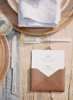 #place-settings, #menu  Photography: Bryan N. Miller Photography - bmillerweddings.com  Read More: http://www.stylemepretty.com/california-weddings/2014/07/23/organic-dinner-party-wedding-inspiration/