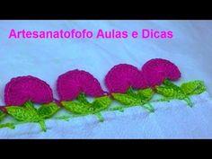 Barrado de natal em crochê para pano de copa - CROCHÊ 66 - DYI - YouTube