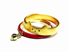 ルチカリングネコ『usualtomcatリング』(カラー:レッド)(ネコ/首輪):約11号/フリー【ルチカLuccica】トムキャット送料無料猫ねこシンプル指輪アクセサリーユニーク動物アニマル個性的レディース人気かわいいおもしろジュエリーcoolkawaii