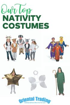 Take the stress out of Christmas pageant costumes this holiday season! Order individual costumes or get our Mega Nativity Pageant Kit that comes with 22 total costumes. Nativity Costumes, Halloween Costumes, Christmas Pageant, Stressed Out, Xmas Crafts, Costume Accessories, Seasons, Kit, Places