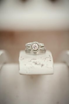 Round Halo-Set Engagement Ring