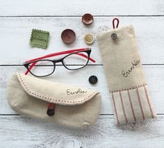 Cell Phone or Glasses Case and Earphone Cases DIY Tutorial