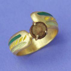 Cusco Y Arboles Ring by Carrie Bilbo Art Jewelry