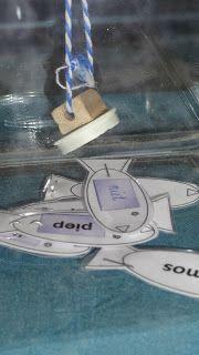Lln 1: noemt een woord. Lln 2 vist met hengel met magneet het woord uit de vissenkom. Spelling, Education, Learning, Multi Sensory, Frans, Kids, Motto, School Ideas, Pirates
