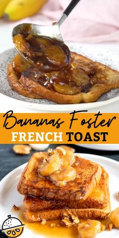 French Toast Recipe Brown Sugar, Dairy Free French Toast, Homemade French Toast, Bananas Foster French Toast, Banana French Toast, French Toast Batter, Eggnog French Toast, Fall Breakfast, Sweet Breakfast