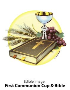 Edible Image - First Communion Cup & bible.jpg (446×576)