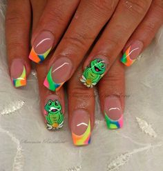 Neon frogs