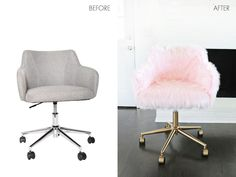 Project Restyle: Office Chair Makeover #ChairDIY #ChairMakeover #ChairRepurposed
