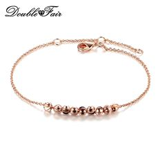 Simple Metal Beads Hand Chain Bracelets & Bangles Silver Color Fashion Jewelry Silver Tone For Women Wholesale DFH216