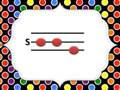 FREE So-La-Mi Cards for music teachers working with elementary students on solfege: Free ppt