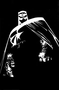 The Dark Knight by Frank Miller DC Comics Fumetti Arte Art Comic Book Characters, Comic Books Art, Comic Art, Dc Comics, Batman Comics, Nightwing, Batgirl, Frank Miller Art, Frank Miller Comics