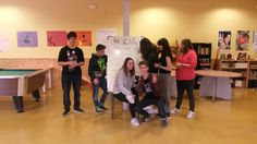 I mini encuentro de Cibercorresposnales. 18/3/2017. Mural colectivo sobre el acoso escolar. https://lasalamandrasiguenza.wordpress.com/2017/02/26/i-mini-encuentro-de-cibercorresponsales/