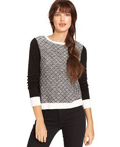 Kensie diamond knit pullover sweater - Fall 2013