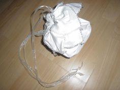 mein selbstgenähter Brautbeutel aus Seide, total schön