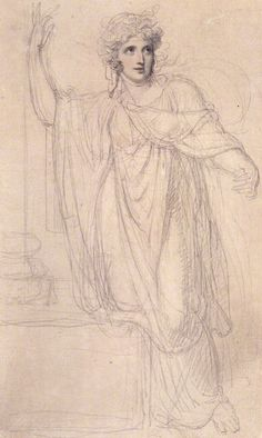 Emma, Lady Hamilton, by Richard Cosway. Pencil and watercolor. (1801)