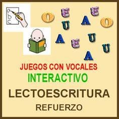 DIFICULTADES LECTORAS: Juegos para refuerzo de vocales (RECOPILACIÓN)