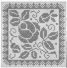 dantel Filet Crochet Charts, Crochet Cross, Crochet Home, Thread Crochet, Crochet Motif, Crochet Designs, Crochet Stitches, Crochet Patterns, Biscornu Cross Stitch