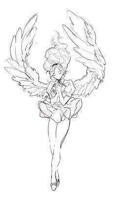 사이퍼즈 angel sketch, angel drawing, drawing base, drawing tips Wings Drawing, Angel Drawing, Drawing Base, Drawing Drawing, Anime Kunst, Anime Art, Art Sketches, Art Drawings, Wie Zeichnet Man Manga
