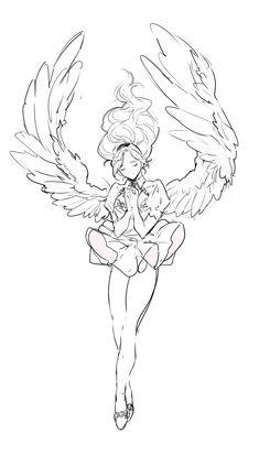 사이퍼즈 angel sketch, angel drawing, drawing base, drawing tips Wings Drawing, Angel Drawing, Drawing Base, Drawing Drawing, Art Anime, Anime Kunst, Art Drawings Sketches, Cute Drawings, Wie Zeichnet Man Manga
