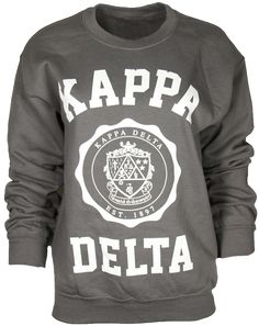 Kappa Delta Crest Est. 1897 Sweatshirt by Adam Block Design | Custom Greek Apparel & Sorority Clothes | www.adamblockdesign.com