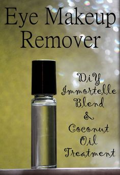 Coconut Eye Makeup Remover with Essential Oils. Add 3 drops of DIY Immortelle Blend (Frankincense, Cypress and Lavender essential oils) to a oz empty glass roller bottle. Top off the bottle with fractionated coconut oil. Diy Makeup Remover, Makeup Removers, Glass Roller Bottles, Fractionated Coconut Oil, Homemade Beauty Products, Diy Products, Doterra Essential Oils, Yl Oils, Tips Belleza