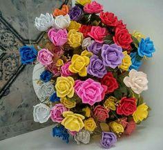 Vaso de Rosas Grandes (EVA)