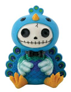 Furry Bones Blue Peacock Dandy Figurine ** For more information, visit now : Home Decor Collectible Figurines