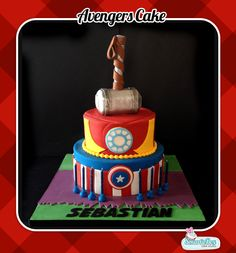 Marvel avengers cake, hulk, captain america, iron man and thor's hamme Avengers Cartoon, Avengers Characters, Avengers Comics, Iron Man Birthday, Birthday Stuff, Birthday Bash, Birthday Cakes, Birthday Parties, Hulk