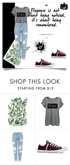 """Bez naslova #2"" by nermina-cebic ❤ liked on Polyvore featuring Topshop and Converse"