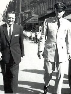 Freddy Bienstock and Elvis in Paris  - Throughout Elvis' career, as the liaison between scores of Hill & Range (Elvis' publishing company) songwriters, outside songwriters and the King himself, Freddy was perpetually seeking quality material suited for his star client.  www.elvisinfonet.com/interview_freddy_bienstock_ken_sharp.html