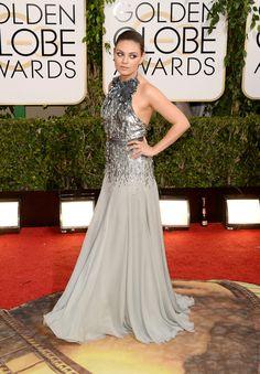 Mila Kunis   Fashion On The 2014 Golden Globes Red Carpet