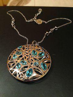 Di Modolo necklace, sterling silver and blue topaz - http://designerjewelrygalleria.com/di-modolo/di-modolo-necklace-sterling-silver-and-blue-topaz/