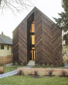 Image 1 of 16 from gallery of Palatine Passive House / Malboeuf Bowie Architecture. Photograph by Shea Pollard