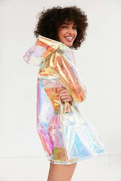 Clear Rain coat For Women - Gray Rain coat Outfit - Stylish Rain coat Jackets - Long Rain coat Fashion - Rain coat Pattern Sewing - Raincoat Outfit, Blue Raincoat, Clear Raincoat, Cute Raincoats, Raincoats For Women, Moda Instagram, Tumblr Outfits, Holographic Raincoat, Girl Clothing
