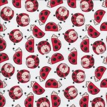 Ladybugs - White - Stenzo Poplin