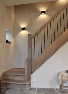 53 New ideas for house entrance staircase Rustic Stairs, Modern Stairs, House Staircase, Staircase Design, Interior Stairs, Home Interior Design, Style At Home, Cosy House, House Entrance
