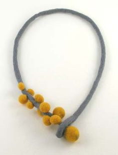 felted necklace *****Do something similar for the necklace part with leather!!